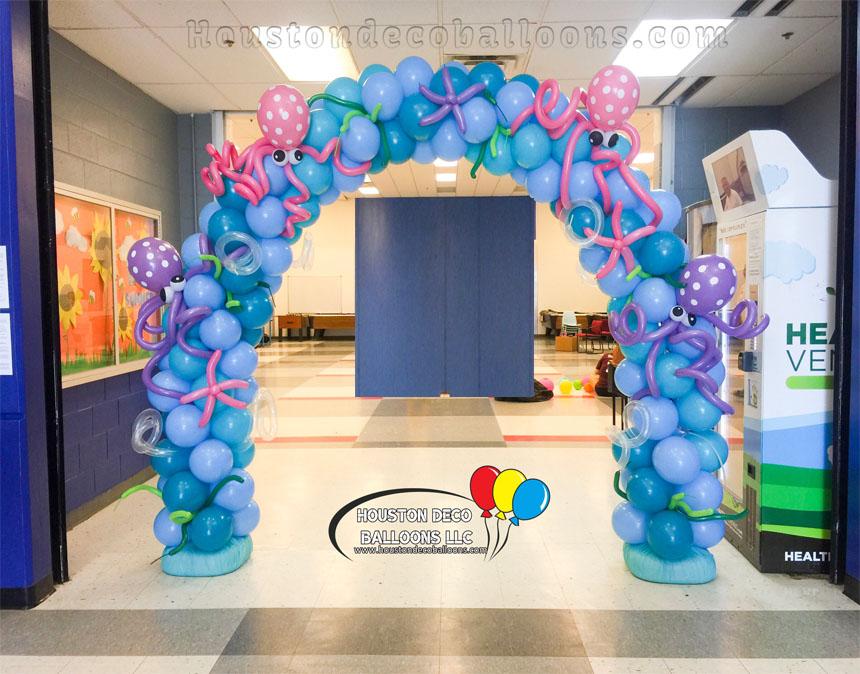 Octopus houston balloon decorations