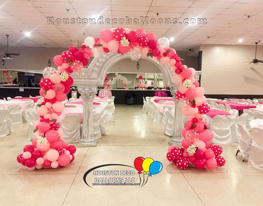 Organic arch houston balloon decorations