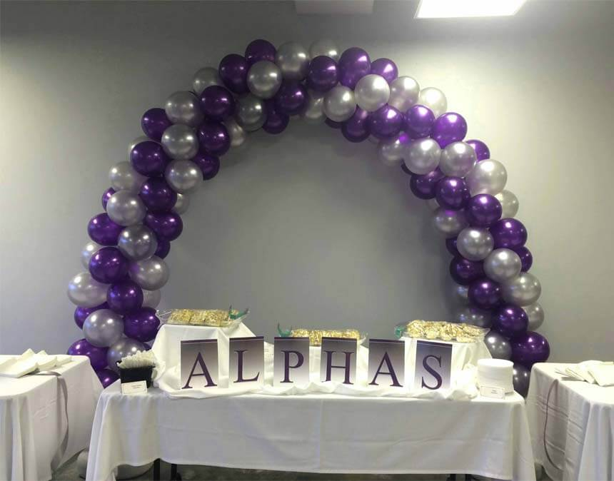 Purple Silver 860 Houston Balloon Decorations
