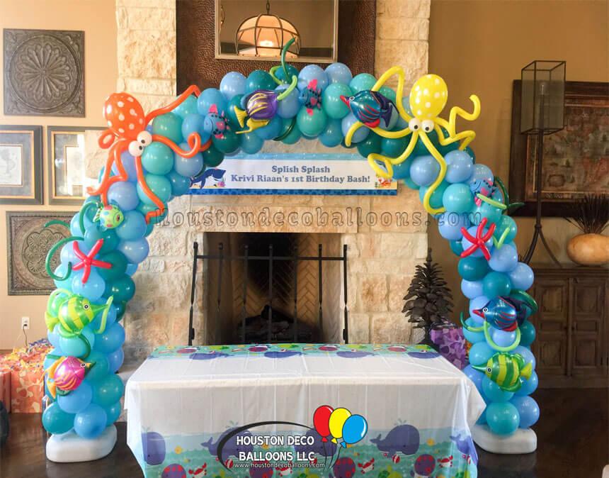 Under Sea Balloon Arch