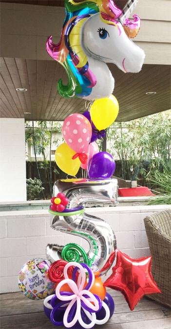 Unicorn megaloon cmprz houston balloon decorations