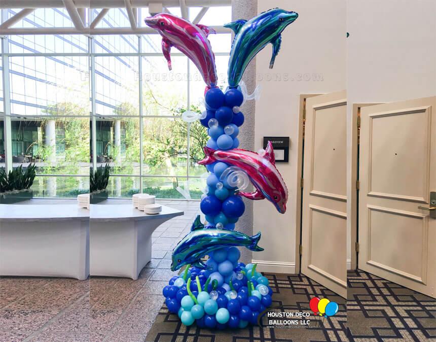 Dolpin-Balloon-fountain