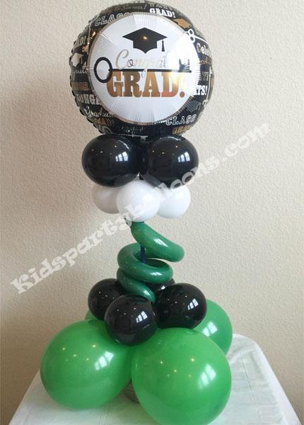 Graduation Balloon Centerpieces - Design 2 - Graduation Balloon Decorations - Houston Balloon Decorations
