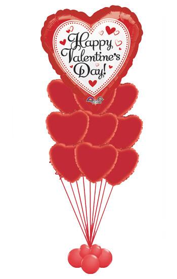 Red hearts balloon bouquet balloons houston