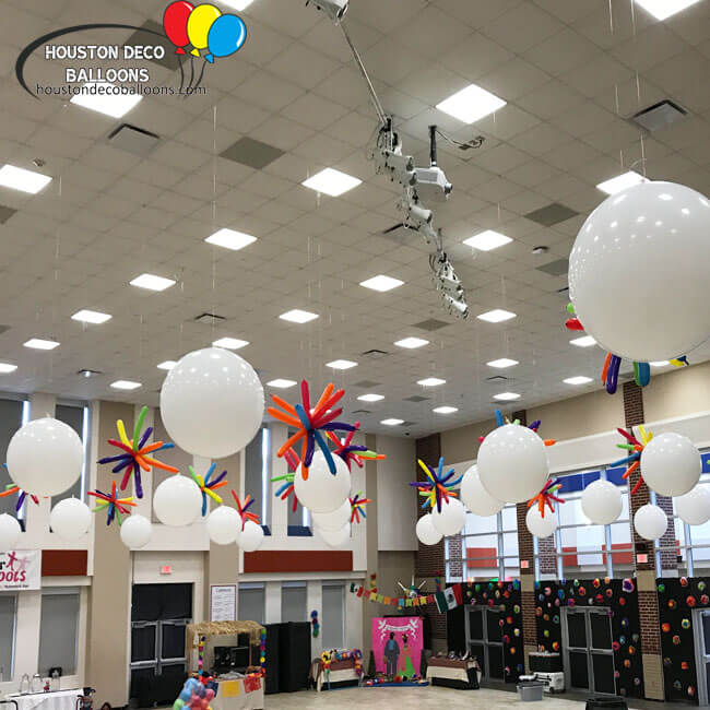 Ceiling Balloon Decor Balloon Decorations
