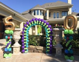 50th celebration Balloons deco