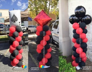 casino balloon columns