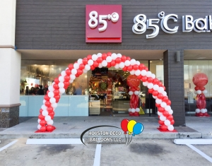 Large Balloon Arch Grand Opening