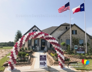 Balloon Arch for Model home Grand Opening